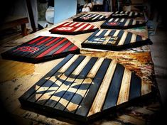 Diy wood projects - Customizable Baseball Home Plate American Flag Sign, Rustic American Flag Sign