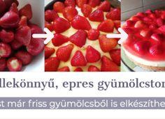 Eperfüggőknek: Pillekönnyű epres-pudingos gyümölcstorta Raspberry, Strawberry, Cereal, Cherry, Pudding, Fruit, Breakfast, Food, Morning Coffee