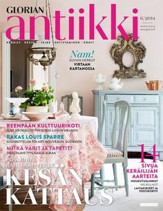 Magazine Cover Pastel colours of the dining room from a house from Finnish country side. Pastel Colours, Viria, September 2014, Finland, Dining Room, Magazine, Country, Cover, Design