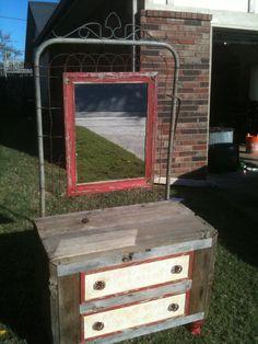 Barn wood and gate dresser