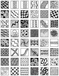 Zentangle reference sheet