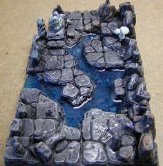 Nirriti The Black's cavern set piece made from Hirst Arts molds.