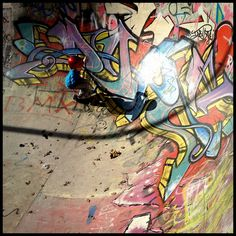 Skate bowl graffiti at Bournemouth skatepark by Simon Verrall, via Flickr