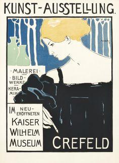 Kunst Austellung - Crefeld by Mohrbutter, Alfred | Shop original vintage #artnouveau posters online: www.internationalposter.com