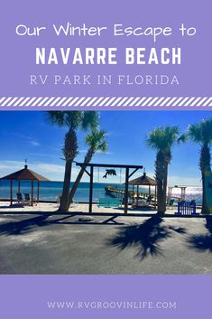 Navarre Beach Campground in Florida is our favorite place to spend the winter. We stayed in Navarre Beach RV Park in Florida last winter. It's only an hour from Pensacola Florida. It was our first winter without snow! Loved it! Rv Parks In Florida, Florida Camping, Beach Camping, Florida Travel, Rv Camping, Camping Ideas, Florida Trips, Camping Jokes, Camping Outdoors