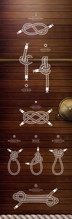 Tie the knot graphic Paracord Knots, Rope Knots, Sailing Knots, Sailing Ships, Nautical Knots, Nautical Theme, Vintage Nautical, Boat Stuff, Sail Away