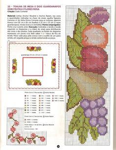 Gallery.ru / Фото #2 - ***** - celita Cross Stitch Fruit, Cross Stitch Kitchen, Just Cross Stitch, Cross Stitch Borders, Cross Stitch Designs, Cross Stitch Patterns, Stitching Patterns, Cross Stitching, Needlepoint
