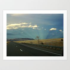 Life Is A Highway Art Print by Kim Ramage - $18.72