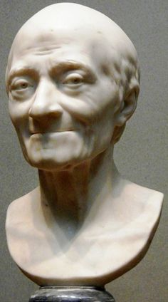 Voltaire, by Jean-Antoine Houdon.  What an expression!