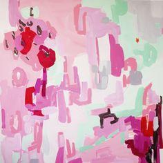 "Pink 2, by Britt Bass Turner | Gregg Irby Fine Art - 36"" by 36"" $1000"