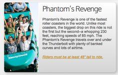 Phantom's Revenge at Kennywood Amusement Park in West Mifflin, Pennsylvania, USA. Fastest Roller Coaster, West Mifflin, Roller Coasters, Amusement Park, Revenge, Pennsylvania, Two By Two, Usa, World