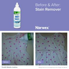 Stain Remover works without chlorine bleach or other harsh chemicals to penetrate, dissolve and eliminate a variety of stains on contact. It's gentle on delicate fabrics and works in all water temperatures.
