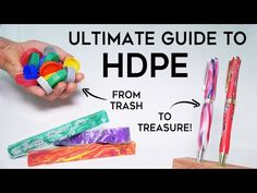 Beginner's Guide to Melting HDPE - How to Make a Recycled Plastic Pen Plastic Bottle Caps, Plastic Molds, Recycle Plastic Bottles, Plastic Recycling, How To Recycle Plastic, Recycled Bottles, Recycled Glass, Recycled Crafts, Diy Craft Projects
