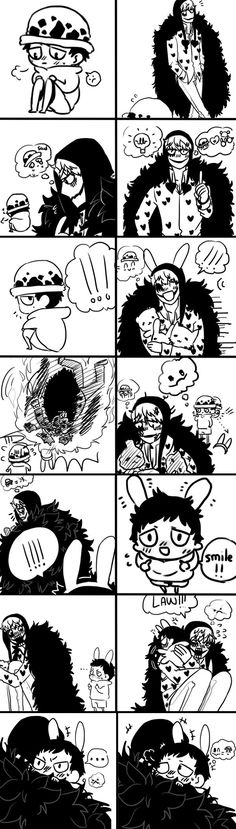 Happy Corazon = Happy Law - Trafalgar D. Water Law and Donquixote Rocinante, (Corazon), (Corasan, Cora-san) One piece