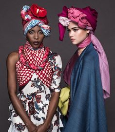 Trebene Scarves, South Africa // Photography by Chris Saunders African Inspired Fashion, African Print Fashion, Tribal Fashion, Fashion Prints, African Scarf, African Print Clothing, African Prints, African Head Wraps, Fashion Themes