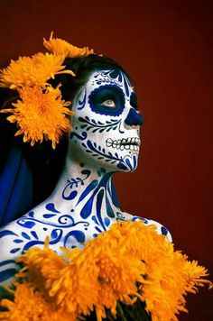 la catrina Curiosities Day of the Dead, Ideas for the day of the dead, decoration for the day of the Looks Halloween, Halloween Face Makeup, Halloween Costumes, Sugar Skull Halloween, Halloween Stuff, Easy Halloween, Dead Makeup, Makeup Art, Skull Photo