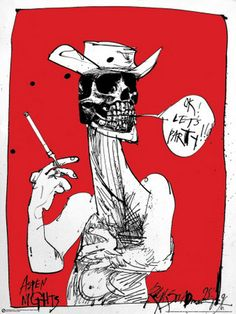 LET'S PARTY!   by Ralph Steadman