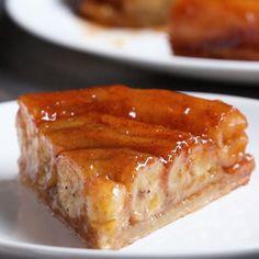 French-Style Apple Tart (Tarte Tatin) Recipe by Tasty Apple Cake Recipes, Tart Recipes, Dessert Recipes, Cooking Recipes, Cooking Tv, Bread Recipes, Dinner Recipes, Food Cakes, Banana Tart Recipe