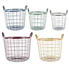 Get Multi Color Round Wire Basket Set online or find other Baskets products from HobbyLobby.com