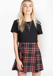 552d6278fd Buy Boohoo Black Tartan Layer Woven Dress Online - 3168081 - Jabong