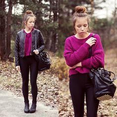 Infiniteen Jacket, Sheinside Sweater, Chicwish Bag, Vagabond Boots