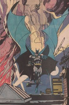Batman by Neal Adams. I love the cape Comic Book Artists, Comic Books Art, Comic Art, Batman Artwork, Batman Wallpaper, Dc Comics, Batman Comics, I Am Batman, Batman Robin