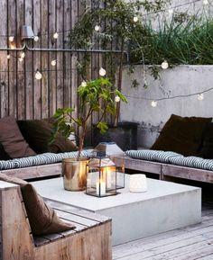 20 Epic Backyard Lighting Ideas to Inspire your Patio Makeover DIY Outdoor Design Inspiration Bistro Lights Outdoor Rooms, Outdoor Gardens, Outdoor Living, Outdoor Decor, Rustic Outdoor Spaces, Outdoor Candles, Outdoor Cafe, Outdoor Kitchens, Diy Candles