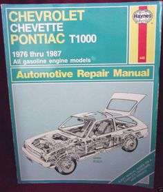 #Chevrolet Chevette #Pontiac T1000 #Haynes Owners Workshop Manual 1976-1987 Models.