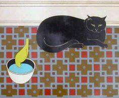 Cat and Canary 1980 by Will Barnet - Limited Edition Print