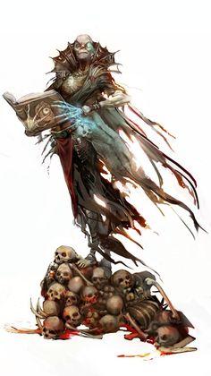 Vecna, um dos vilões mais conhecidos de D&D by juliedillon*