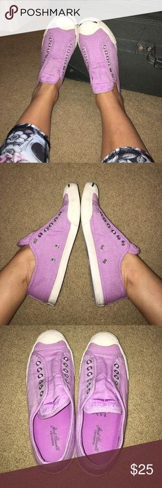 Jack Purcell converse Lilac color! Worn a few times but still in great shape! Converse Shoes Sneakers