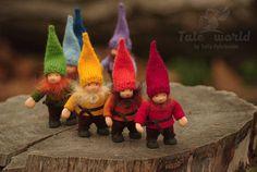 Rainbow gnomes Waldorf dolls Gift for kids Woodland creature doll Christmas gnome toy Waldorf gnome doll Fairy tale creature OOAK art dolls Waldorf Crafts, Waldorf Toys, Wet Felting, Ooak Dolls, Art Dolls, Hansel Y Gretel, Scandinavian Gnomes, Decoration Christmas, Doll Shop