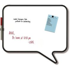 Umbra Talk Magnetic Whiteboard ($25) ❤ liked on Polyvore featuring home, home decor, white and white home decor