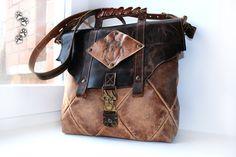 4lapki сумка натуральная кожа крокодил пирография ручная работа стимпанк / genuine leather shoulder bag crocodile pyrography  handmade