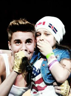justin with belieber :)