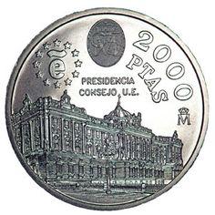 Colección completa Monedas España 2000 Pesetas 1994 al 2001, Tienda Numismatica y Filatelia Lopez, compra venta de monedas oro y plata, sellos españa, accesorios Leuchtturm