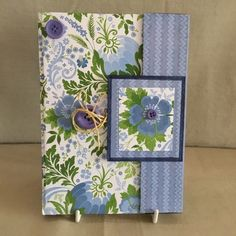 Lovely notebook with sparkly blue and green cover. Book has a magnetic clasp, but also an added button and wrap round twine fastening. Blue Glitter, Valentine Heart, Secret Santa, Twine, Unique Gifts, Stationery, Paper Crafts, Sparkle, Cover