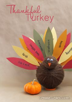 Lots of Thanksgiving Kids Craft Ideas for family fun including turkey crafts, cookies, free printables and more.
