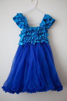 pettiskirt pettidress  blue easter wedding by MilleFeuilleBoutique, $35.99