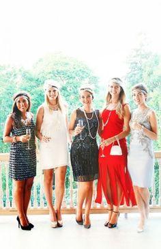 flapper dresses! Cute idea for a Bachelorette party.