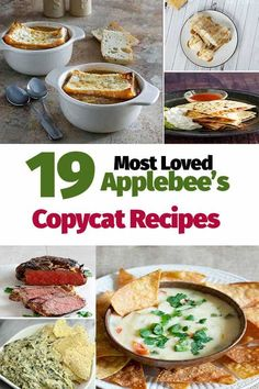 You can prepare 19 of the most loved Copycat Applebees Recipes at home. Appetizers, soups, salads, main dishes, and yes even desserts. Make these most loved copycat recipes at home. copycat recipe 19 of the Most Loved Copycat Applebees Recipes Healthy Recipes, Dog Recipes, Cooking Recipes, Chicken Recipes, Healthy Salads, Mcdonalds Recipes, Cooking Videos, Healthy Food, Applebees Recipes