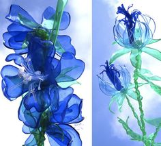 Plastic Flowers made from plastic bottles by Dobrinka Staneva Rather than recycle her plastic bottles, Dobrinka Staneva prefers to turn them into gorgeous floral arrangements. Who knew you could make such stunning flowers from plastic bottles? Plastic Bottle Flowers, Plastic Bottle Crafts, Recycle Plastic Bottles, Plastic Craft, Flower Bottle, Plastic Spoons, Recycled Bottles, Recycled Crafts, Diy Crafts
