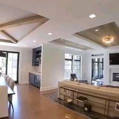 Ceiling Design Living Room, Home Room Design, Interior Design Living Room, Living Room Designs, Dream House Interior, Country Home Design, Modern Interior, Kitchen Ceiling Design, House Ceiling Design