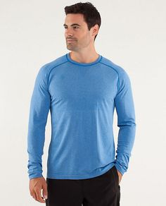 Blue workout shirt- Lulu Lemon
