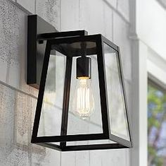 Arrington Mystic Black 13-Inch-H Outdoor Wall Light
