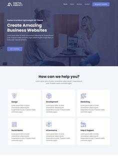 Wordpress Website Design, Business Website, Lorem Ipsum, Get Started, Digital, Grief