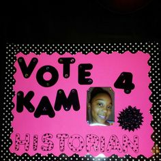 Student Council campaigning…  5th grade