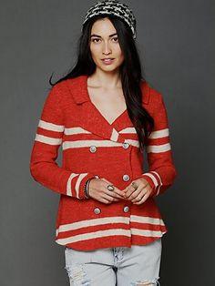 Free People: Earned Stripes Jacket