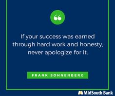 Honesty is our first core value here at MidSouth Bank. #Honesty #ThoughtForThursday