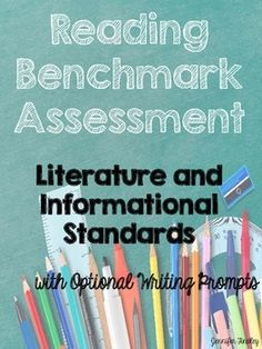 Common Core Reading Benchmark for 4th and 5th Grade Reading Standards! Includes 8 texts and 27 questions! Assesses EVERY literature and informational standard.